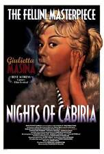 NIGHTS OF CABIRIA Movie POSTER 27x40 Giulietta Masina Fran ois P rier Amedeo