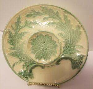Vintage French Gien Majolica Artichoke Plate