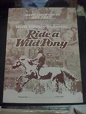 RIDE A WILD PONY, orig uncut Disney 12pg prbk + supplement [Michael Craig]