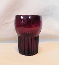 Vintage Ruby Paden City Glass  -  GLADES Pattern TUMBLER