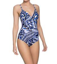 Naturana 73023 Padded Swimsuit White / Blue Ladies Swimming Costume NEW