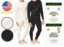 Mens 2pc Thermal Underwear Set Top Bottom Waffle Knit Cotton Long John