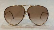 porsche Design Vintage Gold Frame Brown Lense Sunglasses Aviator Style Nice!