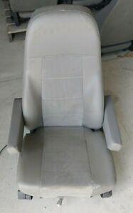 M2 FREIGHTLINER SEMI TRUCK GRAY VINYL NATIONAL AIR RIDE BUCKET SEAT - DOUBLE ARM