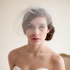 Wedding Headdress Bridal Net Birdcage Face Veil Fascinator Hair Comb CostumeWH3