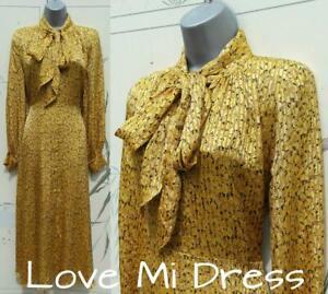 M&S Collection -  Gorgeous Tie Neck Midi Dress Sz 22 EU50