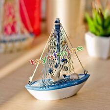 artigianato in legno decorazione modelli mini barca a vela Flag Table Ornament