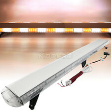 "72"" 136 LED White Amber Light Emergency Warning Strobe Flashing Bar Hazard 1.8M"