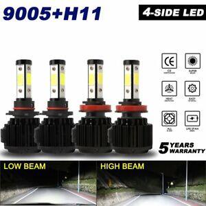 4-side H11 9005 LED Headlight Hi Low Beam for Honda Accord 13-2017 Civic 16-2017