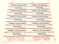 Johnny Rodriguez I Wonder if I Ever Said Goodbye Jukebox Title Strip Full Sheet