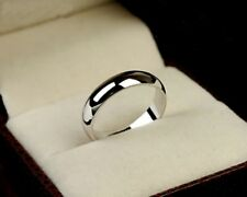 Polished Ring 18K White Gold GP Bridal Groom Wedding Engagement Band Rings