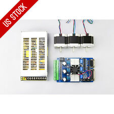 US Ship 3 Axis CNC Kit 179oz.in Nema 23 Stepper Motor & TB6560 Driver - Economy