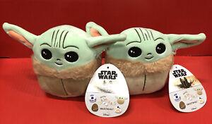 "2X Kellytoy Squishmallow Disney Star Wars Plush 5"" Mini Baby Yoda The Child Nwt"