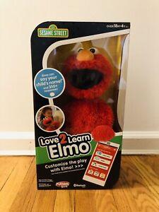 Love 2 Learn Elmo Interactive Talking Bluetooth Doll Playskool RARE BRAND NEW