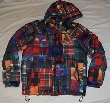 Polo Ralph Lauren Men Southwestern Aztec Beacon Patchwork Down Hood Jacket Lg