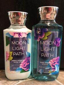 2 Moon LIght Path BATH & BODY WORKS Shower Gel & Body Lotion 8oz 10oz FULL SIZE
