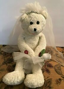 PBC International Bride Bear Singing Plush Doll - Sings Going to the Chapel