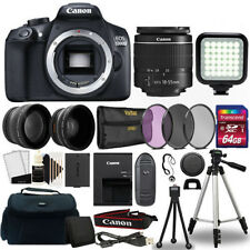 Canon EOS Rebel 1300D/T6 Digital SLR Camera with 64GB Top Accessory Kit