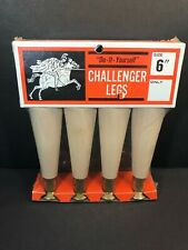"NOS 6"" Wooden Mid Century Replacement Table Legs CHALLENGER Screw In"