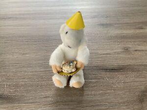 Vintage 1982 NABCO North American Message Bearer Polar Teddy Bear Birthday Plush