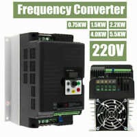 220V Single To 3 Phase Variable Frequency Drive Inverter Control Converter New