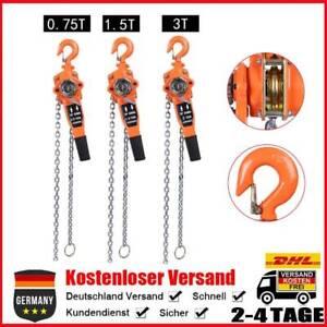 Kettenzug Ratschenzug Hebezug Hebelzug Flaschenzug 0,75T/ 1.5T/ 3T 3m Kette TOLL