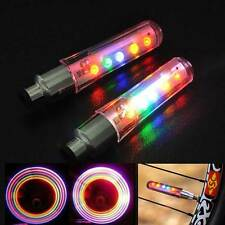 Valve Cap Light Bike Bicycle Cycling Wheel Tyre Spoke Lamp Auto Lighting 2 x LED