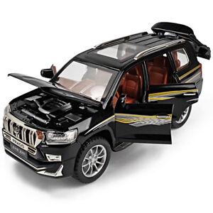 Toyota Land Cruiser Prado SUV 1:24 Diecast Model Car Toy Collectible Sound&Light