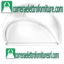 Plafoniera applique vetro parete esterno design PRISMA POLO 2 bianco E27 007705