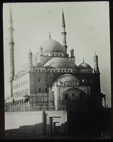 Glass Magic Lantern Slide MOSQUE OF MEHEMET ALI CAIRO C1910 PHOTO .....  EGYPT