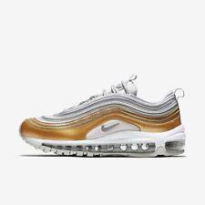 Nike AIR MAX 97 SE Mujer Running Zapatillas Número 4.5 6.5 Oro Blanco Nuevo