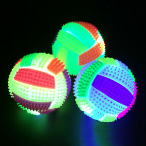 Flash Pet Dog Jumping Activation Ball LED Light Flashing Bouncing Ball Puppy Toy