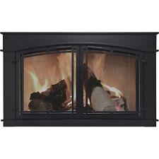 Pleasant Hearth Fieldcrest Fireplace Glass Door- Black #Fc-5904