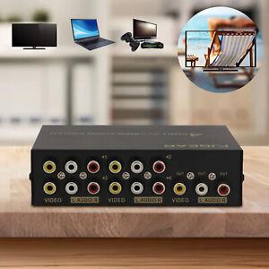 4 In 1 Professional Switcher AV Switch Box Signal Accessory Video Audio Splitter