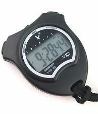 NEW LEAP 1 Row Display 2 laps split time Stopwatch Sports Timer With Lanyard