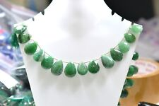 Natural Wholesale - 8 '' Green Aventurine  Faceted Pear / Almond 1 Strand EB344