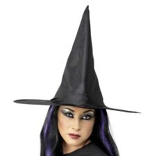 Disfraz de Halloween Mujer Bruja Sombrero Negro NUEVO De SMIFFYS