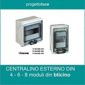 CENTRALINO  QUADRO ELETTRICO PARETE 4-6- 8 moduli DIN IP65 BTICINO F107N ESTERNO
