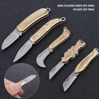 New Key Chain Keyring Stainless Steel Folding Pocket Mini Knife Outdoor Survival