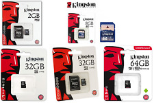 Tarjeta Kingston SD 8GB MICROSD 16GB 32GB 64GB, VERBATIM MEMORIA USB 64GB