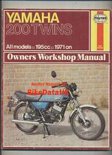 Haynes Yamaha RD200DX (1971-1977) Work Shop Manual Book CS5 CS3 RD 200 DX Twins