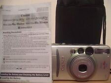 Canon PRIMA ZOOM 90U quarzo data 35 M Film Camera Lens ~ 38-90 mm ~ 5AG17 SELF TIMER