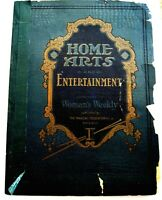 "Lovely 1922 Supplement to ""Woman's Weekly"" w/ ""Home Arts & Entertainment""  *"