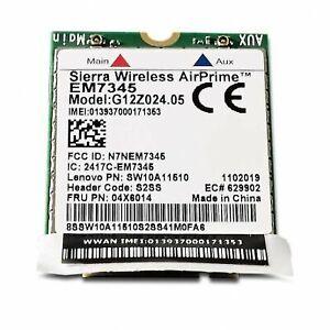 Lenovo Sierra Wireless Air Prime EM7345 4G LTE Mobile Broadband FRU 04X6014