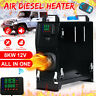 8KW 12V All In One Diesel Air Heater Black LCD Thermostat Remoted RV Trucks
