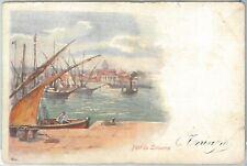 73343  - CARTOLINA d'Epoca: LIVORNO Città -  ILLUSTRATA:  Porto  1901