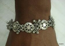 vintage antique tribal old silver bracelet cuff traditional belly dance jewelry