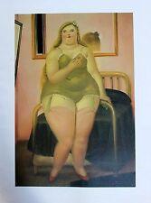 Fernando Botero Lithograph Poster The Maiden Circa 1990's