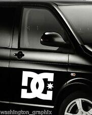 2X LARGE 300mm DC car/laptop window SURF VW T4 T5 VAN VINYL stickers/decals