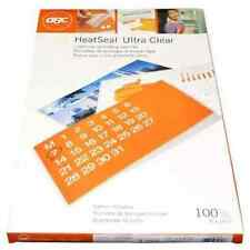New 3mil GBC HeatSeal Ultra Clear Legal Size Laminating Pouches -100pk
